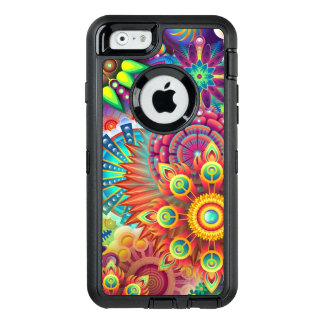 Colorful Flowers OtterBox Defender iPhone Case