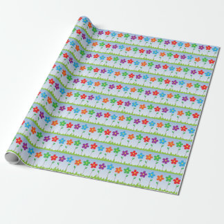Colorful Flowers Pattern Wrapping Paper