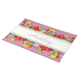 Colorful flowers placemat