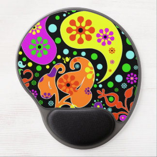 Colorful Flowers Retro Paisley Pattern Mousepad