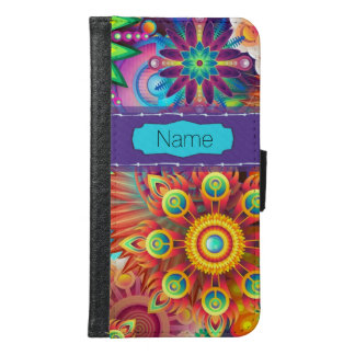 Colorful Flowers Samsung Galaxy S6 Wallet Case