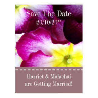 Colorful Flowers Save The Date Wedding Postcards