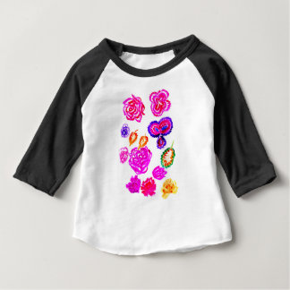 Colorful Flowers Strokes 2 Baby T-Shirt