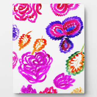 Colorful Flowers Strokes 2 Plaque