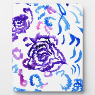 Colorful Flowers Strokes 4 Plaque