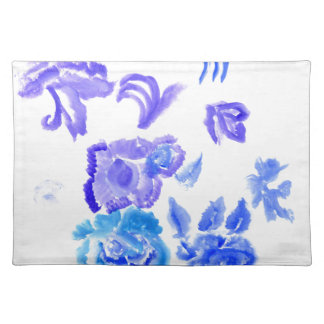 Colorful Flowers Strokes Placemat
