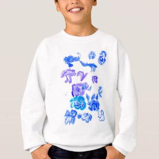 Colorful Flowers Strokes Sweatshirt