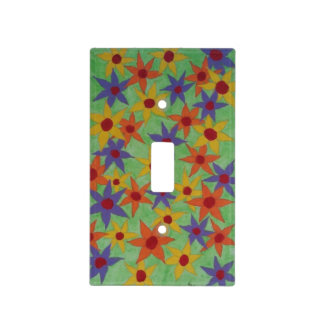 Colorful flowers to brighten up a room light switch cover