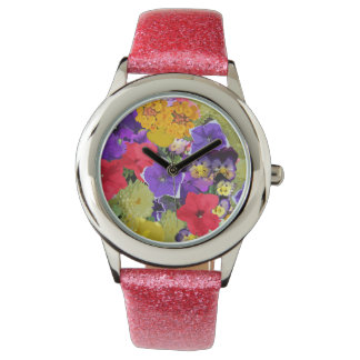COLORFUL FLOWERS WATCH