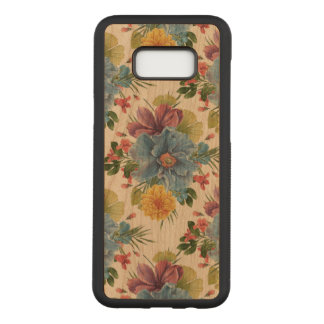 Colorful Flowers Watercolors Pattern GR3 Carved Samsung Galaxy S8+ Case