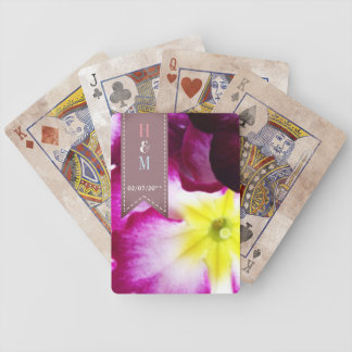 Colorful Flowers Wedding Bicycle Playing Cards