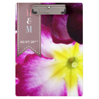 Colorful Flowers Wedding Clipboard
