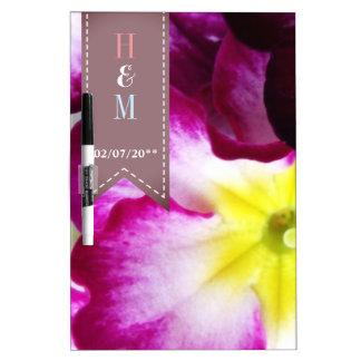Colorful Flowers Wedding Dry Erase Board