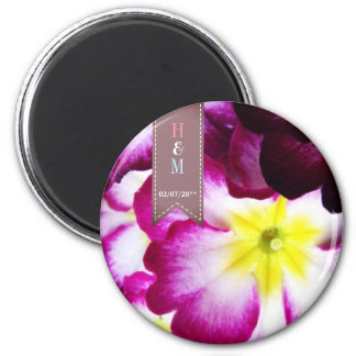 Colorful Flowers Wedding Magnet