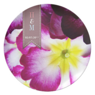Colorful Flowers Wedding Plate