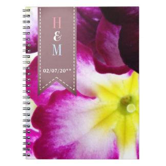 Colorful Flowers Wedding Spiral Notebook