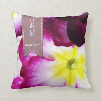 Colorful Flowers Wedding Throw Pillow