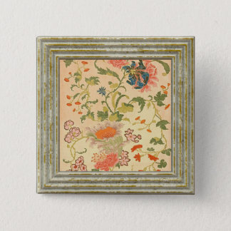 Colorful Flowers Wonderland 2 Inch Square Button