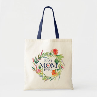 Colorful Flowers Wreath-Beast Mom Ever Tote Bag