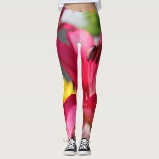 Colorful Flowers Yoga Exercise Running Leggings