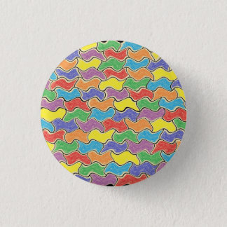 Colorful Fluctuations 1 Inch Round Button
