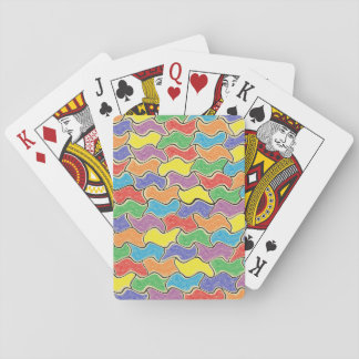 Colorful Fluctuations Playing Cards