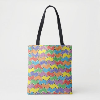Colorful Fluctuations Tote Bag