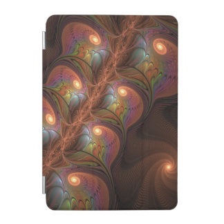 Colorful Fluorescent Abstract Modern Brown Fractal iPad Mini Cover