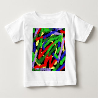 Colorful fluorescent squiggly lines baby T-Shirt