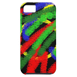 Colorful fluorescent squiggly lines case for the iPhone 5