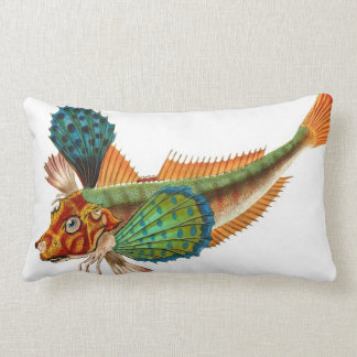 Colorful Flying Fish Lumbar Throw Pillow