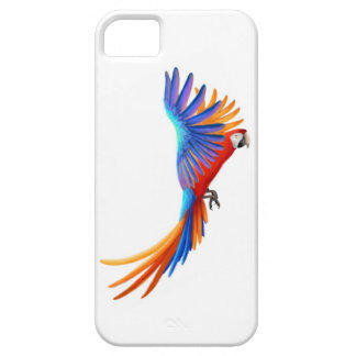 Colorful Flying Hybrid Macaw iPhone Case