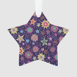 Colorful Folk Art Starry Sky