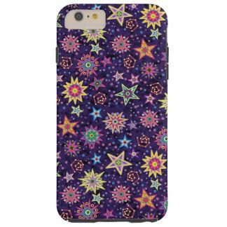 Colorful Folk Art Starry Sky Tough iPhone 6 Plus Case