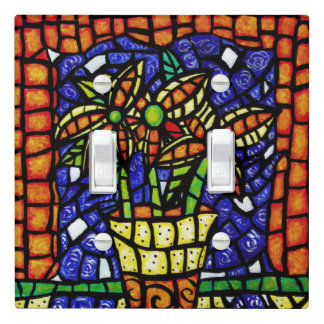 Colorful Fowers Light Switch Cover