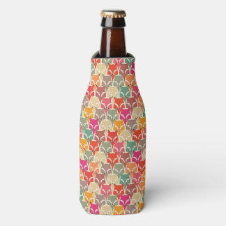 Colorful Fox Bottle Coozy Bottle Cooler