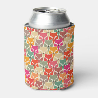 Colorful Fox Coozy Can Cooler