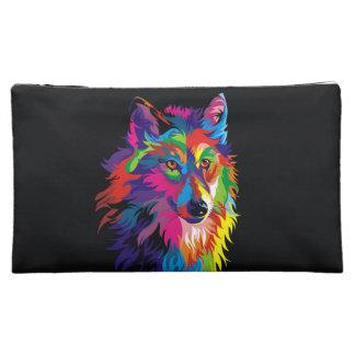 Colorful fox makeup bags