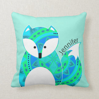 Colorful Fox Personalized Pillow