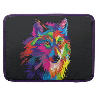 Colorful fox sleeve for MacBook pro
