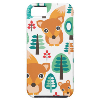 Colorful fox tree kids pattern iphone 5 case