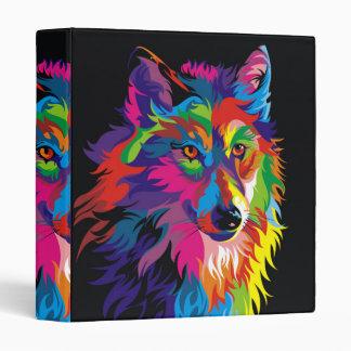 Colorful fox vinyl binders