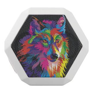 Colorful fox white bluetooth speaker