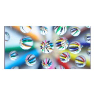 Colorful Fractal Digital Art Photography Pencil Photo Cards