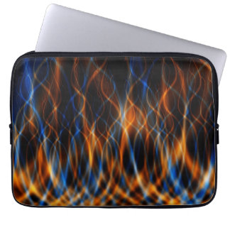 Colorful Fractal Flames Laptop Sleeve