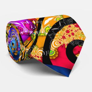 Colorful Fractal Hodgepodge Tie