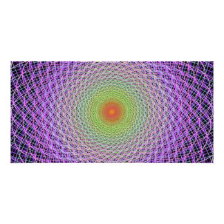 Colorful fractal photo cards
