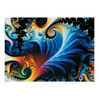 Colorful Fractal Poster