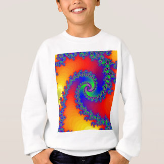 Colorful Fractal Spiral: Sweatshirt