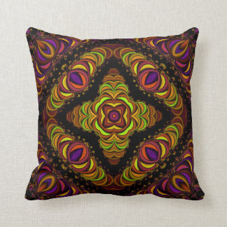 Colorful Fractascope 9 Throw Pillow